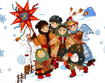12 января в нашем детском саду прошли рождественские колядки для детей.